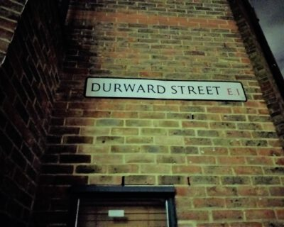 "Durward Street, former Buck's Row in Whitechapel, site of the murder of Jack the Ripper victim Mary Ann ""Polly"" Nichols (Photo: Philipp Röttgers)"